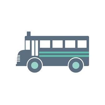 Ilustração, de, escola, autocarro
