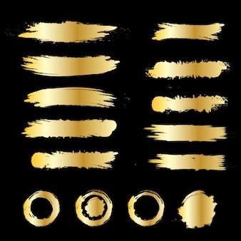 Ilustração de escova de ouro