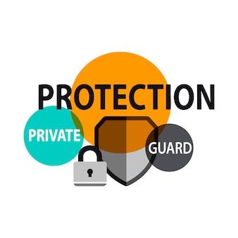 Ilustração, de, escudo proteção