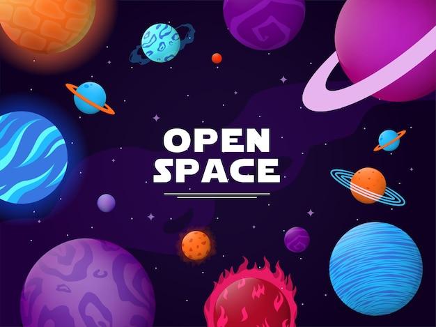 Ilustração de espaço aberto