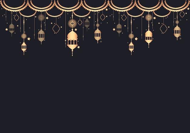 Ilustração de espaço de design de lanterna