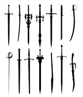 Ilustração de espadas
