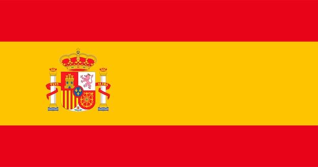 Ilustração, de, espanha, bandeira