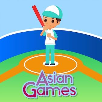 Ilustração de esporte de beisebol
