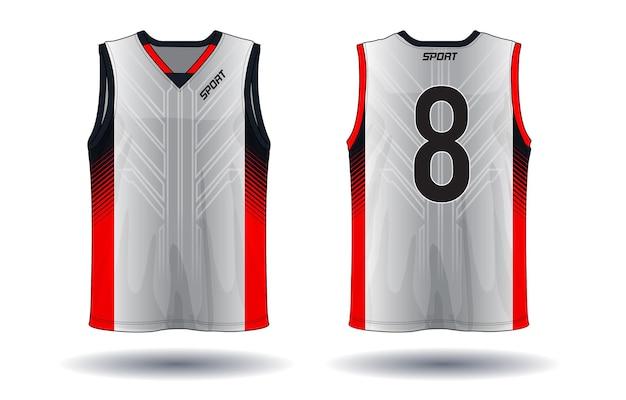 Ilustração de esporte de camiseta de basquete