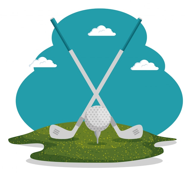 Ilustração de esporte de golfe