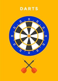 Ilustração de esporte de jogo de dardos