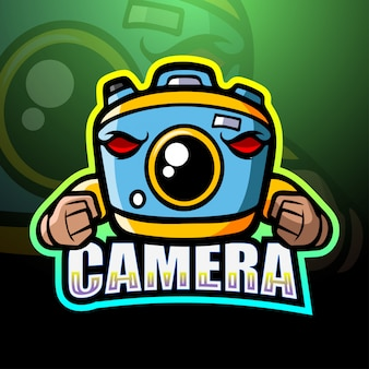 Ilustração de esporte de mascote de câmera