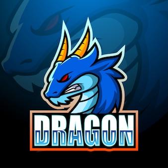 Ilustração de esporte de mascote de dragão