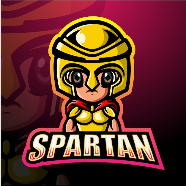 Ilustração de esporte de mascote de guerreiro espartano