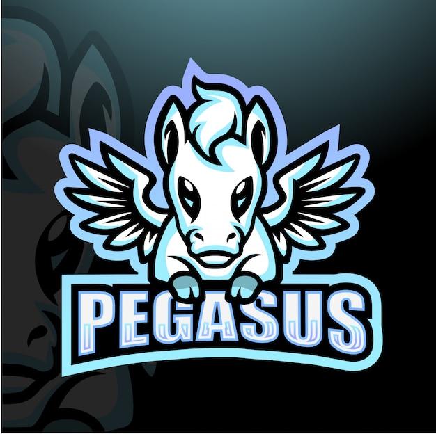 Ilustração de esporte de mascote de pegasus