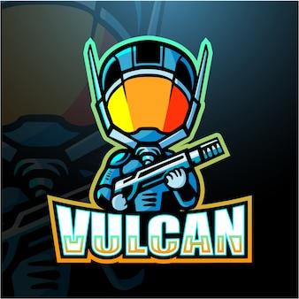 Ilustração de esporte de mascote vulcan