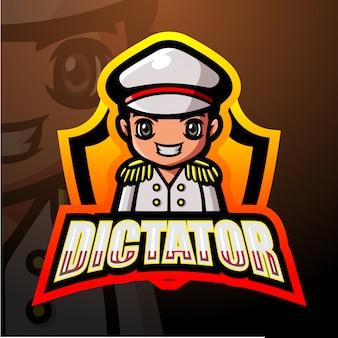 Ilustração de esporte ditador mascote