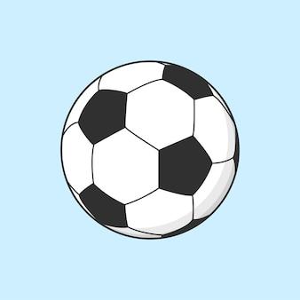Ilustração de esporte legal de futebol com bola de futebol