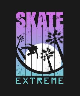 Ilustração de esporte radical de skate