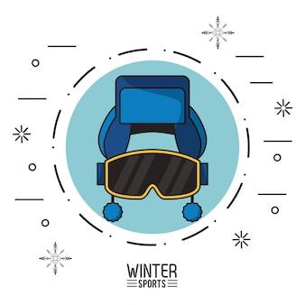 Ilustração de esportes de inverno