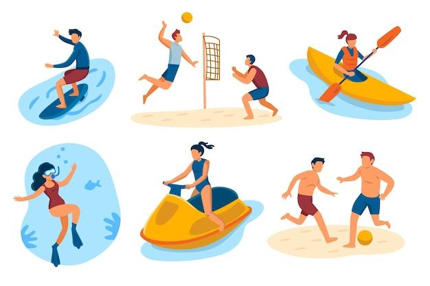 Ilustração de esportes de verão
