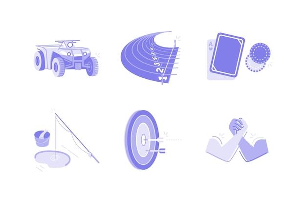 Ilustração de esportes e atividades