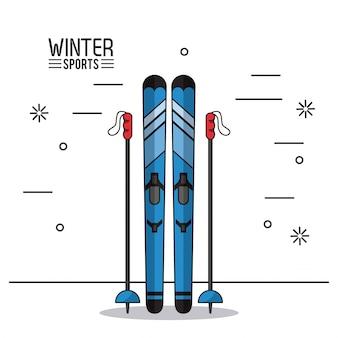 Ilustração de esportes extremos de inverno