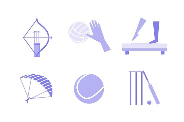 Ilustração de esportes
