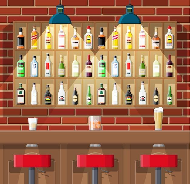 Ilustração de estabelecimento de bebidas em estilo simples