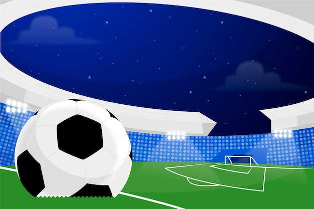 Ilustração de estádio de futebol plana