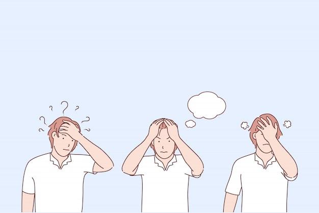 Ilustração de estágios de conscientização do problema