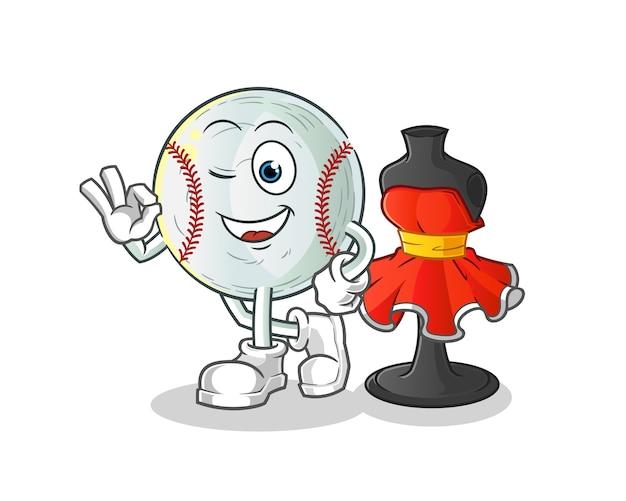 Ilustração de estilista de beisebol