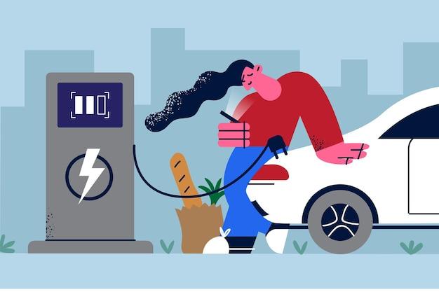 Ilustração de estilo de vida ecossustentável alternativo