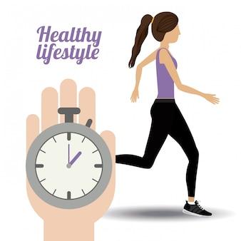 Ilustração de estilo de vida saudável