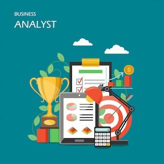 Ilustração de estilo plano de analista de negócios