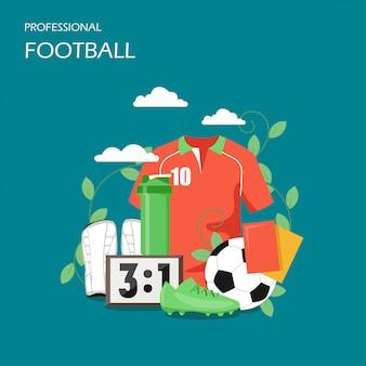Ilustração de estilo plano de futebol profissional