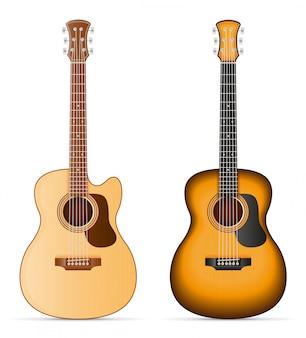 Ilustração de estoque vetorial de guitarra acústica