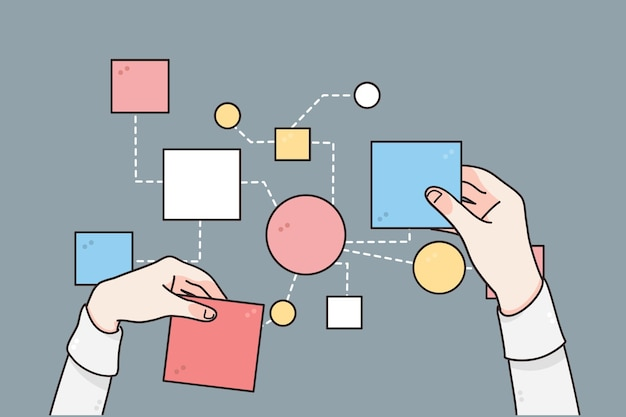 Ilustração de estratégia de negócios