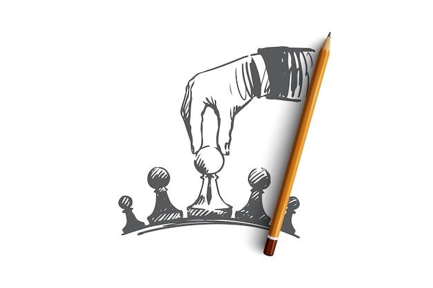 Ilustração de estratégia desenhada à mão