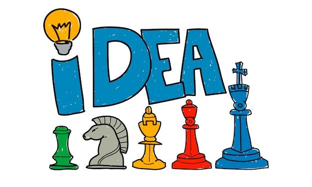 Ilustração, de, estratégia negócio