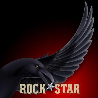 Ilustração de estrela do rock