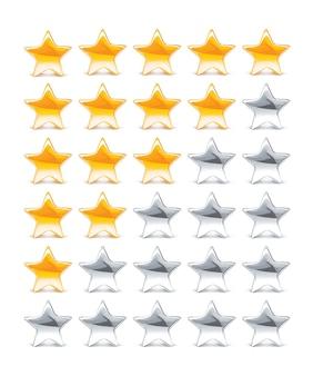 Ilustração de estrelas de classificação