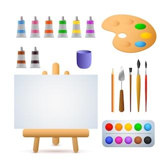 Ilustração de estúdio de arte