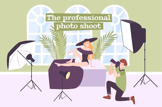 Ilustração de estúdio fotográfico profissional