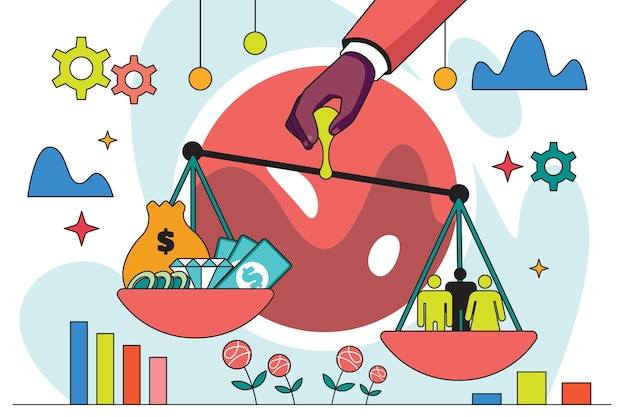 Ilustração de ética empresarial