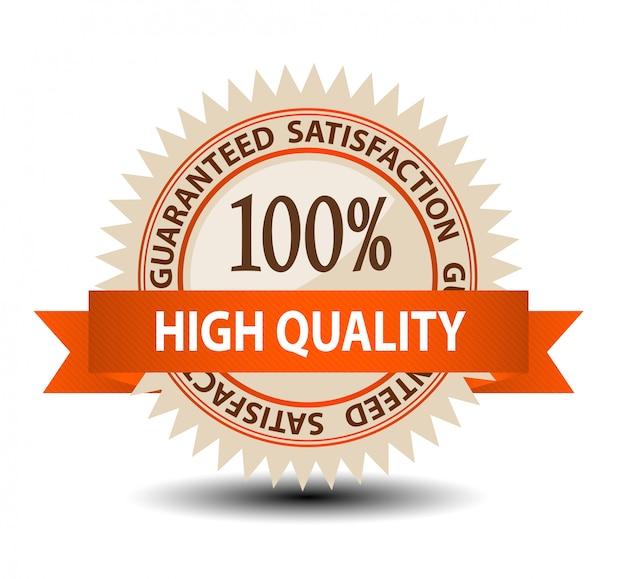Ilustração de etiqueta garantida satisfação