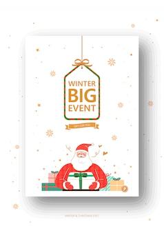 Ilustração de evento de inverno e natal