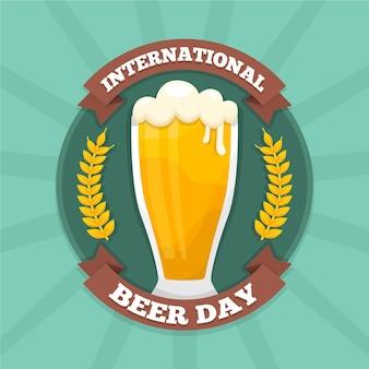 Ilustração de evento do dia internacional da cerveja