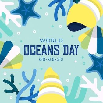 Ilustração de evento do dia mundial dos oceanos