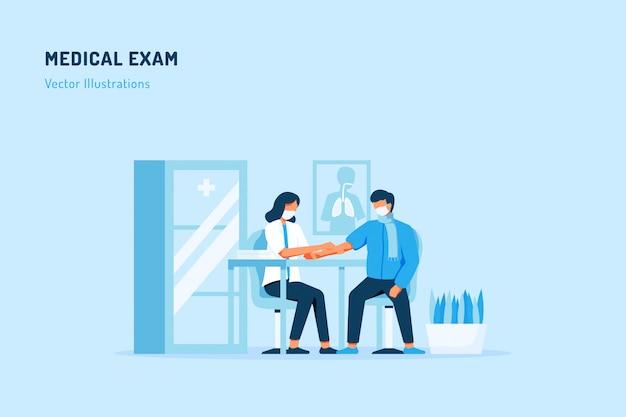Ilustração de exame médico
