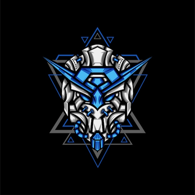 Ilustração de exército de robô azul claro