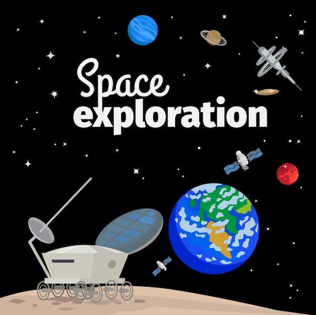 Ilustração de exploração espacial