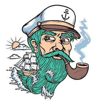 Ilustração de explorador do oceano