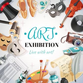 Ilustração de exposição de arte